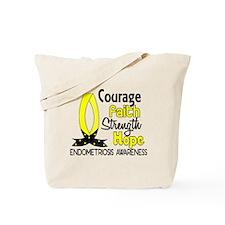Courage Faith 1 Endometriosis Tote Bag