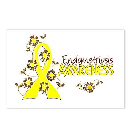 Awareness 6 Endometriosis Postcards (Package of 8)