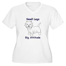 Westie Attitude Plus Size T-Shirt
