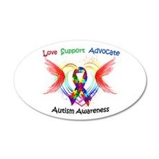 Autism Ribbon with Wings Wall Decal