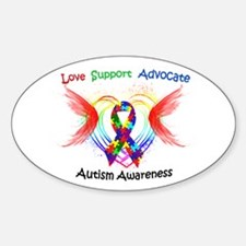 Autism Ribbon with Wings Decal