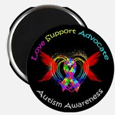 Autism Ribbon with Wings Magnet