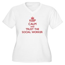 Keep Calm and Trust the Social Worker Plus Size T-