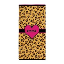 Personalized Name Leopard Beach Towel