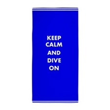 Keep Calm And Dive On Beach Towel