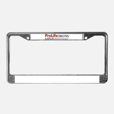 Cool Pro life License Plate Frame