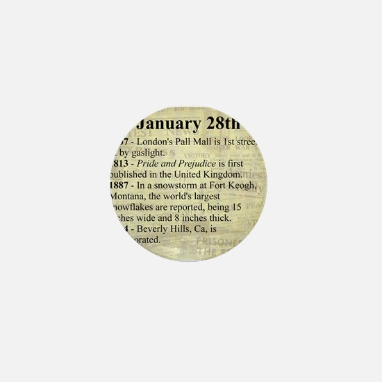 January 28th Mini Button