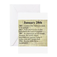 January 28th Greeting Cards