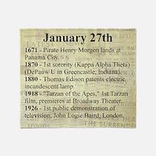 January 27th Throw Blanket