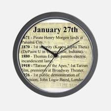 January 27th Wall Clock