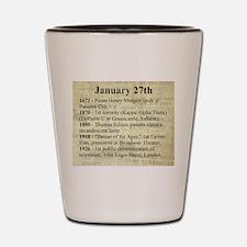 January 27th Shot Glass