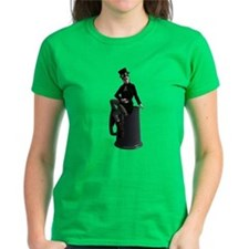 Leprechaun Lady Pin-Up Women'S Dark T-Shirt