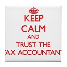 Keep Calm and Trust the Tax Accountant Tile Coaste