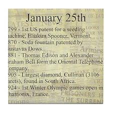 January 25th Tile Coaster