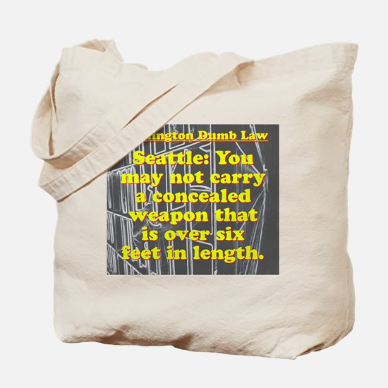 Washington Dumb Law 008 Tote Bag