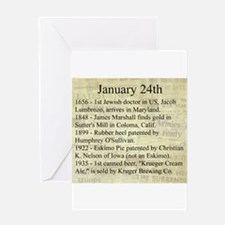 January 24th Greeting Cards