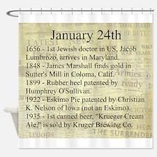 January 24th Shower Curtain