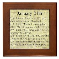 January 24th Framed Tile