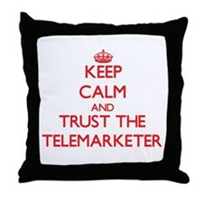 Keep Calm and Trust the Telemarketer Throw Pillow