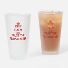 Keep Calm and Trust the Telemarketer Drinking Glas