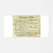 January 23rd Aluminum License Plate