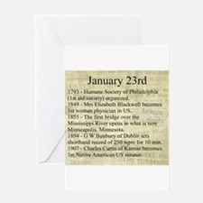 January 23rd Greeting Cards