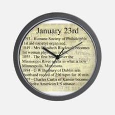 January 23rd Wall Clock