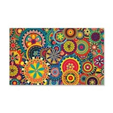 Colorful Floral Pattern Wall Decal