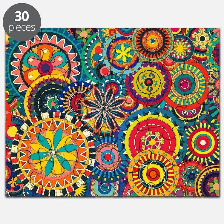 Colorful Floral Pattern Puzzle