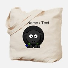 Custom Cartoon Black Sheep Tote Bag