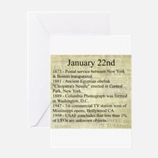 January 22nd Greeting Cards