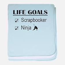 Scrapbooker Ninja Life Goals baby blanket