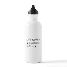 Scrapbooker Ninja Life Water Bottle