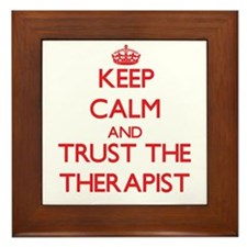 Keep Calm and Trust the Therapist Framed Tile