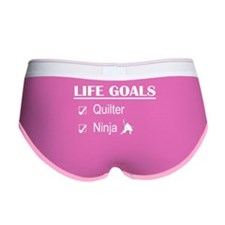 Quilter Ninja Life Goals Women's Boy Brief