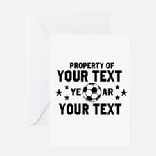 Personalized Property of Soccer Greeting Cards