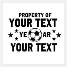 Personalized Property of Soccer Invitations