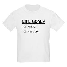 Knitter Ninja Life Goals T-Shirt