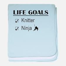 Knitter Ninja Life Goals baby blanket