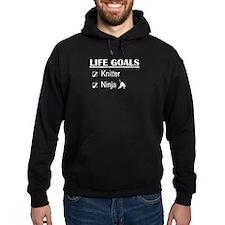 Knitter Ninja Life Goals Hoodie