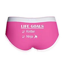 Knitter Ninja Life Goals Women's Boy Brief