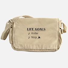 Knitter Ninja Life Goals Messenger Bag