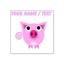 Custom Cartoon Pig Sticker