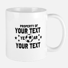 Personalized Property of Soccer Mugs
