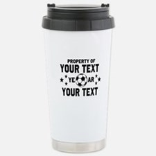 Personalized Property of Soccer Travel Mug