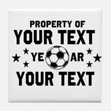 Personalized Property of Soccer Tile Coaster