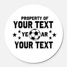 Personalized Property of Soccer Round Car Magnet