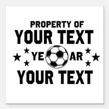 Personalized Property of Soccer Square Car Magnet