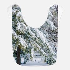 Beautiful trees covered with snow Bib