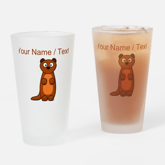 Custom Cartoon Weasel Drinking Glass